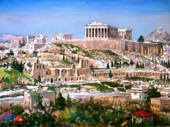The Acropolis of Athens is the site of some of the ancient world's greatest masterpieces which include the Parthenon, the Propylaea, the Erechtheum, and the Temple of Athena Nike.