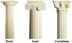 Doric, Ionic and Corinthian styles that have been emulated throughout the centuries. Examples include the Colisseum in Rome which features all three, the Fontana di Trevi features the Corinthian and the White house in Washington features the Ionic.