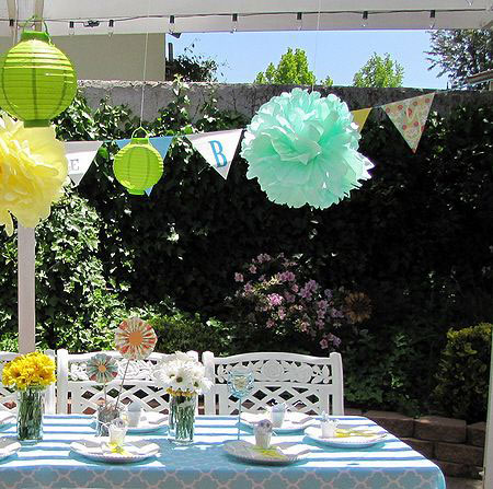The garden can be a beautiful place for your baby shower