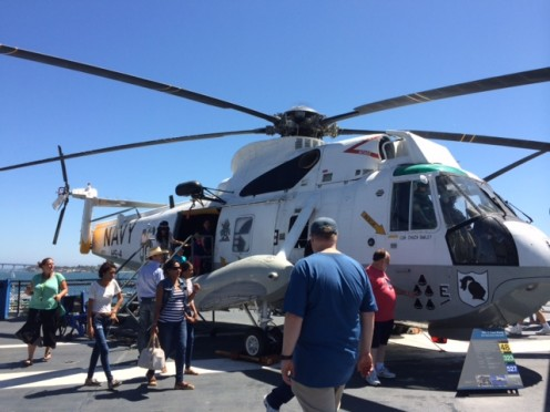 One of the fascinating helicopters atop the carrier USS Midway in San Diego.  You could get inside of it and look around.