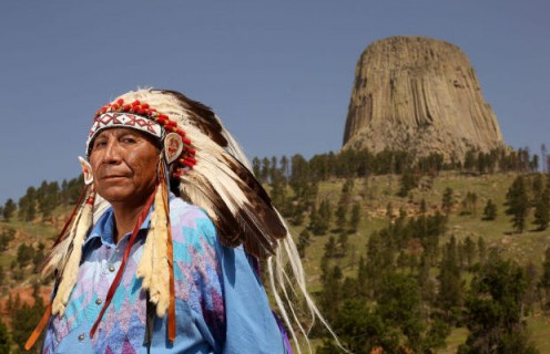 Devils Tower And Native American