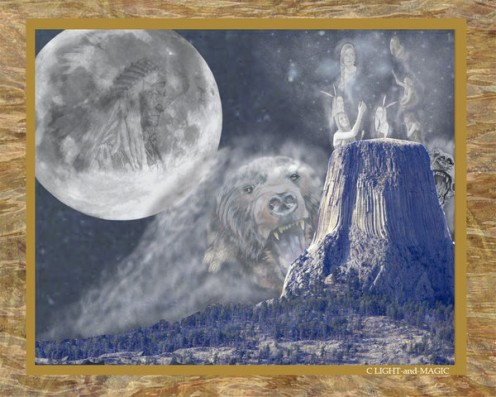 Picture About Devils Tower Legend