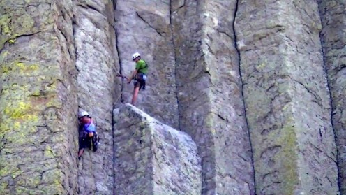 Climbers On Devils Tower