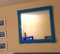 DIY: How To Frame A Large Mirror For Less Than $10