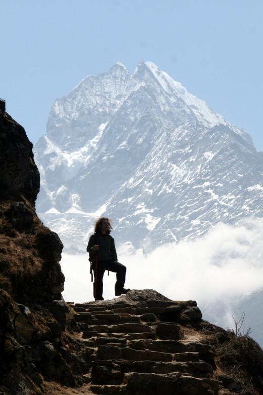 Fishtail mountain (Machhapuchchhre) in the background