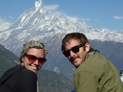 Machhapuchchhre mountain (Fishtail) in background