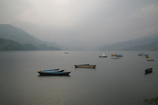 Boats on Phewa Lake, Pokhara