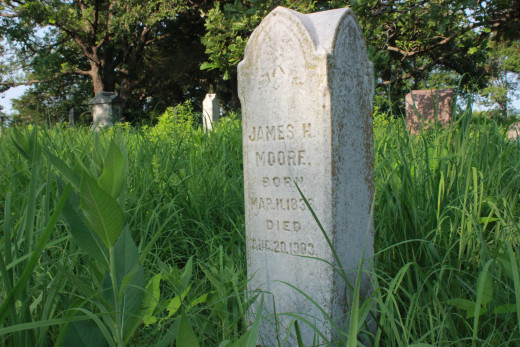 Headstone of James Moore, Valley View Cemetery