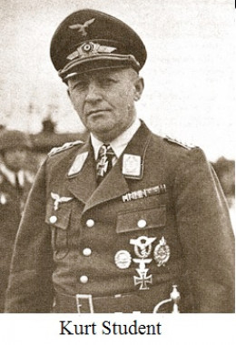 General Kurt Student, who would plan the rescue of Mussolini later in the war