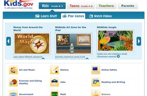 Kids.gov screenshot