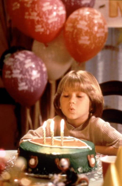 Little Max (Justin Cooper) makes his dreaded birthday wish.