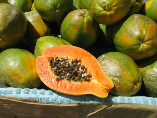 Papaya has never tasted so sweet as when I tried it on Kauai.