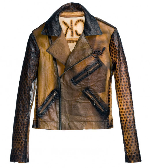"""leather"" jacket for Suzanne Lee"