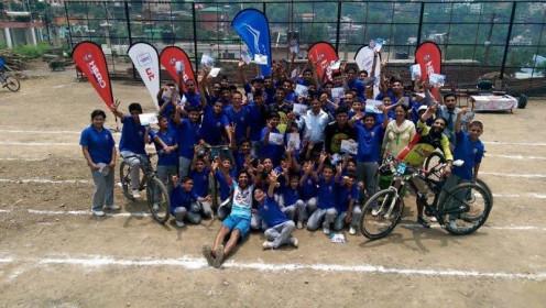 The Hero Hastpa MTB School Program at Gurukul International School in Solan on 4th July 2015