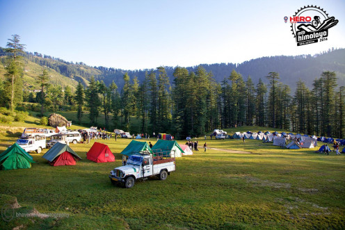 Camp in the lap of nature.  Register for MTB Himalaya.Worth it.