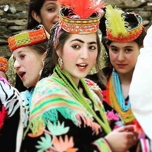 Kalash Women in typical constume
