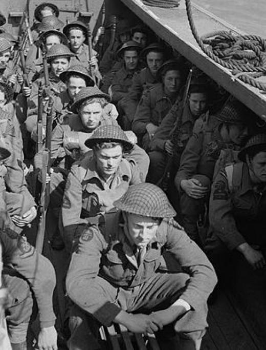 British LCA commandos on the Bardia raid
