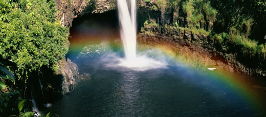 Rainbow Over Rainbow Falls, Hilo, Hawaii