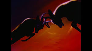 This fighting scene in Disney's Bambi was done by Japanese artists and heavily influenced by Japanese cinema.
