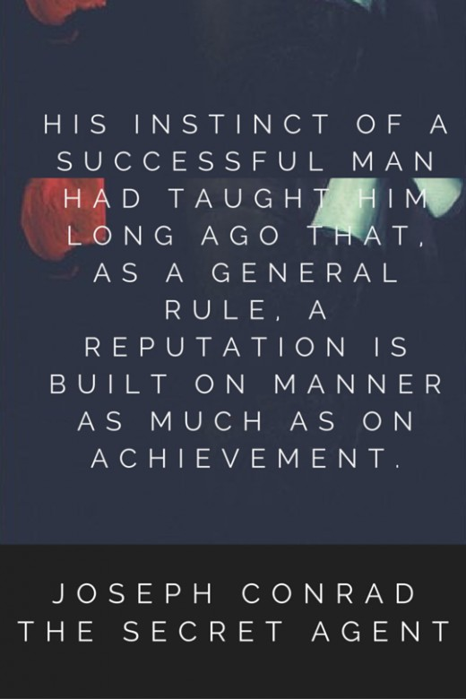 His instinct of a successful man had taught him long ago that, as a general rule, a reputation is built on manner as much as on achievement.