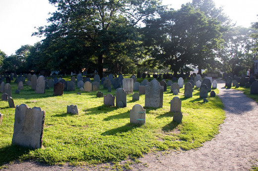 A very old haunted graveyard in Salem...