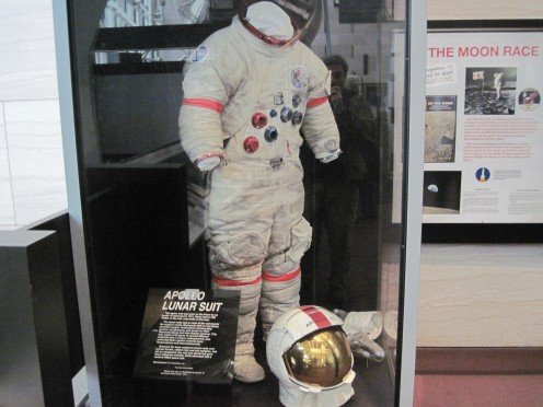 Apollo Lunar Suit Exhibit At National Air And Space Museum