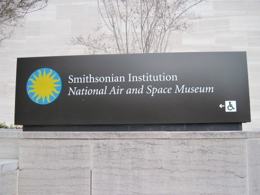 Sign Outside National Air And Space Museum