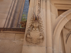 A Town Hall, Sydney stone angel.