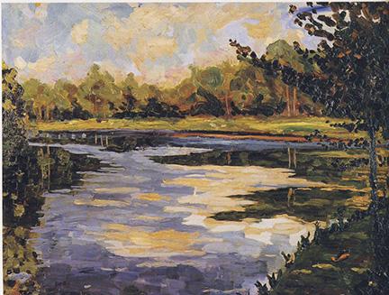 Lake Near Breccles in Autumn