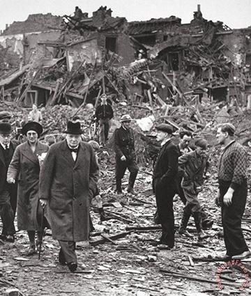 Devastation during WWII.
