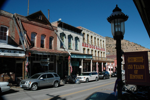 Red Dog Saloon in downtown Virginia City  was and continues to be a famous bar and music haven for musicians.  Janis Joplin once played on the stage!