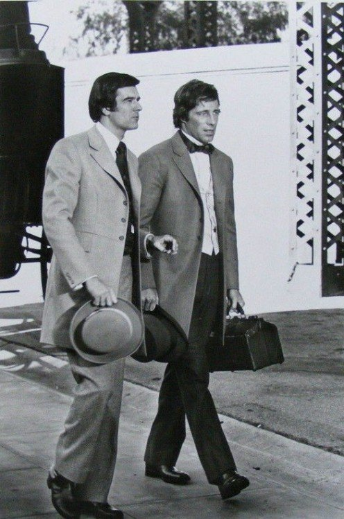Publicity photo showing Hallick (left) and Sam Groom.