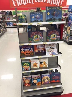 Halloween themed book stand