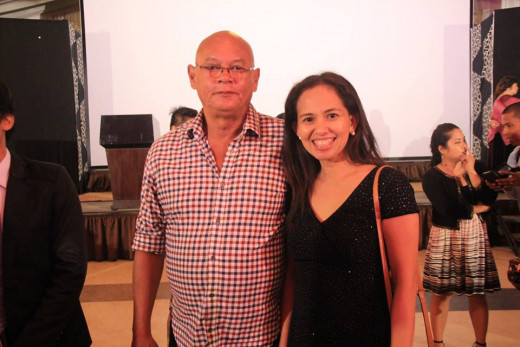 Bicolano actor Bembol Roco with Joannah Burac-Ramores Photo Source: Joannah Burac-Ramores