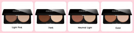 4 amazing shades available to contour & highlight