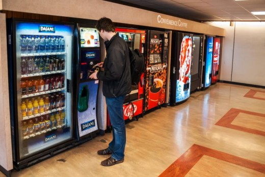 The use of vending machines is an example of product distribution.