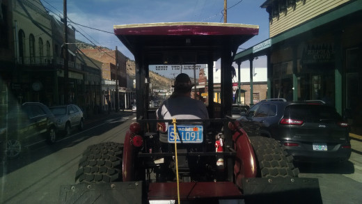 The Virginia City Trolley loops around the major sites of the city.  The conductor is well versed in major and minor historical events that make the town what it is today.