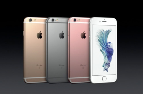 The 4 colors of iPhone 6S and 6S Plus