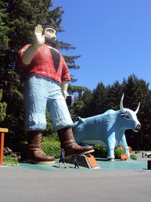 Paul Bunyan and Babe, his ox