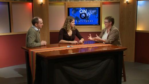 Kathy and co-host Tim Ruzek interview Alisa Ruediger for On Q Latitudes, Germany on KSMQ Public Television