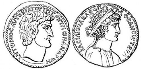 Mark Antony and Cleopatra coins