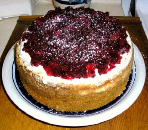 Gourmet Cranberry Grand Marnier Cheesecake