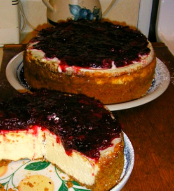 Two Gourmet Cranberry Grand Marnier Cheesecakes