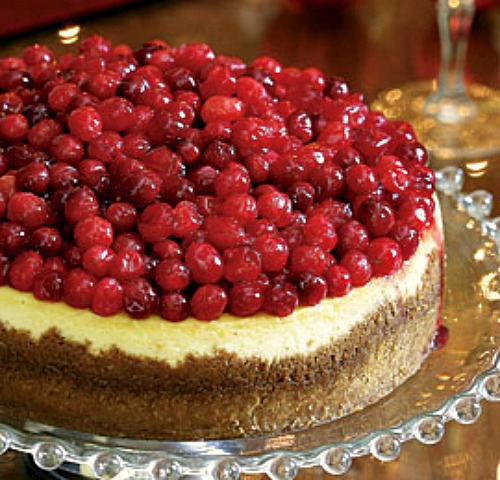 Finished Whole Cranberry Cheesecake