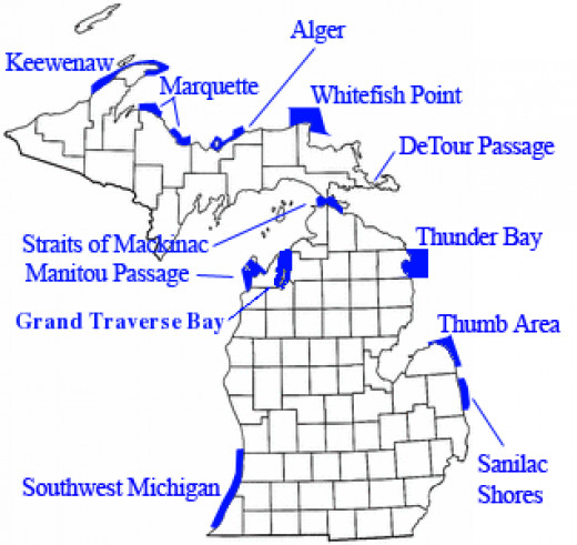 Michigan Underwater Preserves