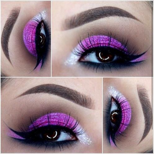Smokey purple eye look for daytime