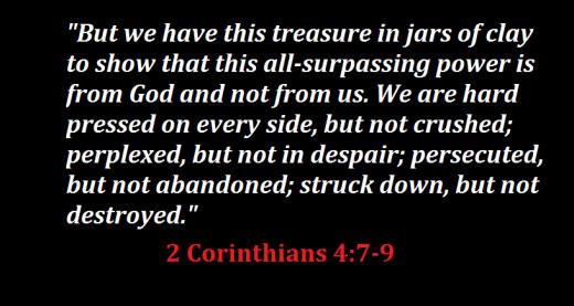 Christians shouldn't mind persecution, for they have a greater treasure and a God that will not abandon them...