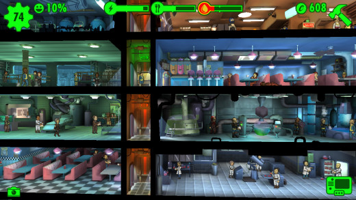 Fallout Shelter is addicting.  Beware.