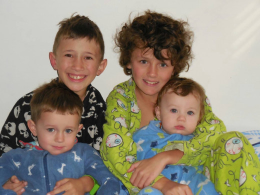Grandsons Ashton, Timothy, Jordan and Dylan