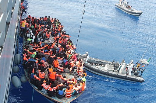 Irish Naval Personnel Rescuing Migrants